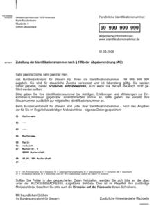 porezni broj u Njemačkoj